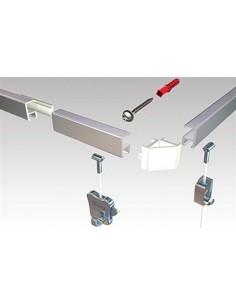 Minirail Combicap (2 cappucci terminali o 1 angolare)
