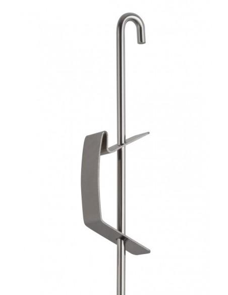 Barra U-top 3 mm J-Rail - Argento con gancio molla